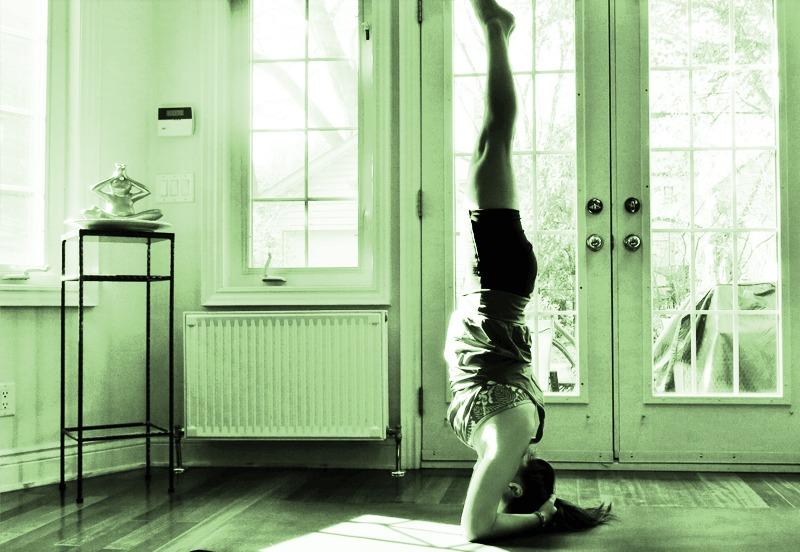 Iyengar yoga hoofdstand